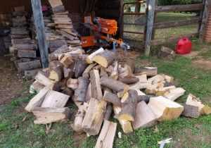 Outdoor Wood Splitting